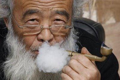 OldManSmokingPipeBeijing